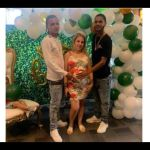 Two Young Guys Happily Celebrate Their Girlfriend At Her Baby Shower