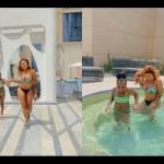 VIDEOS: Afia Schwar aka Fufu Funu Takes Her Daughter On A Trip To Dubai To Celebrate Her 7th Birthday