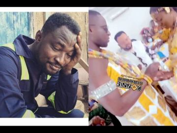 Watch Videos: Funny Face's Ex-wife, Nana Adwoa, Finally Gets Married In A Beautiful Traditional Ceremony