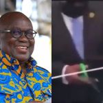 Sad As A Video Of 77-year-old Akufo-Addo Shaking And Struggling To Cut A Ribbon At An Event Goes Viral