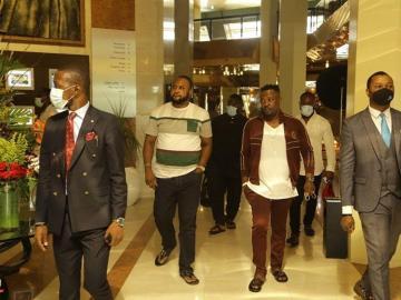 PHOTOS: Prophet Nigel Gaisie Lands In Nigeria With Bodyguards All Over Him