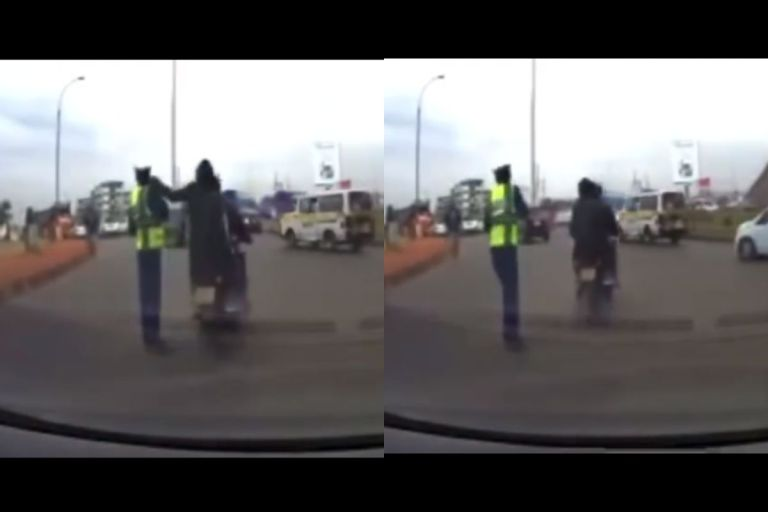 VIDEO: Policeman Couldn't Believe His Eyes After A Thief On A Motorbike Snatched His Smartphone In Broad Daylight