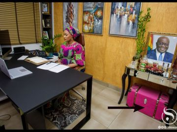 A Big Pink Box, Probably A Makeup Toolbox Seen In Samira Bawumia's Office