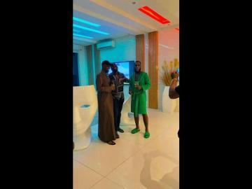 VIDEO: Billionaires, Obi Cubana And Jowizaza Visit Burna Boy In His Mansion