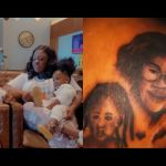 VIDEO: Fan Goes The Extreme And Tattoos Tracey Boakye And Her Kids At Her Back