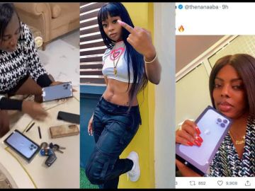 Efia Odo Shades Nana Aba Anamoah, Tracey Boakye, And Other Celebrities For Behaving Like Villagers And Flaunting Their iPhone 13 On Instagram