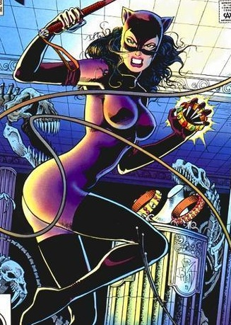 Catwoman in Purple