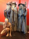 Three Gandolfs from Lord of the Rings and Gollum at the NY Comic Con.