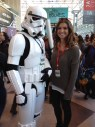 Posing with a Star Wars Stormtrooper at the NY Comic Con.