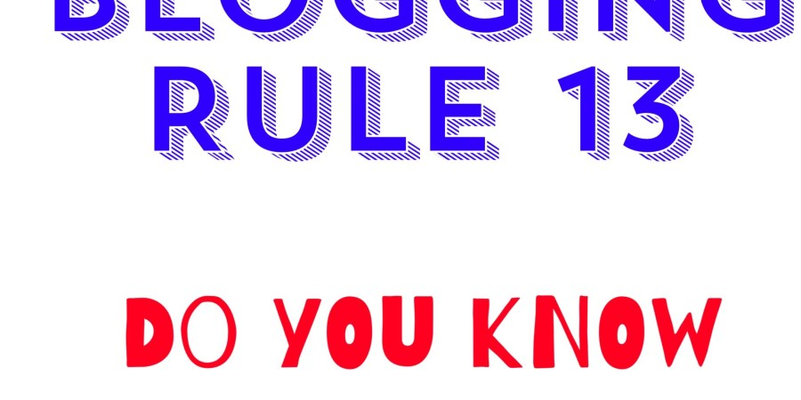 Blogging Rule 13. Use Links.