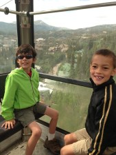 Gondola ride to the Breck Summer Fun Park