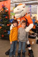 With Denver Broncos mascot, Miles