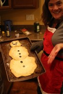 I made this awesome snowman pizza