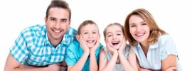 family, happy, children, portrait, children, people, young, smiling, eltern, mother, father, son, daughter, fun, cheerful, isolated, togetherness, together, group, face, hug, boy, girl, bonding, happiness, parenthood, adult, hugs, positive, laughing, casual attire, attractive, cute, caucasian, 4, horizontal, white background, colours, person, lying down, floor, blue, looking, toothy