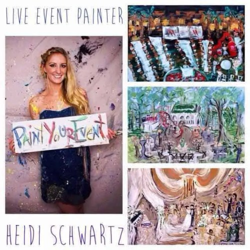 Heidi schwartz, painter, live event painter, nashville painter