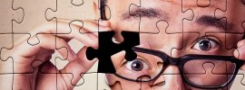 face, puzzle, glasses, man