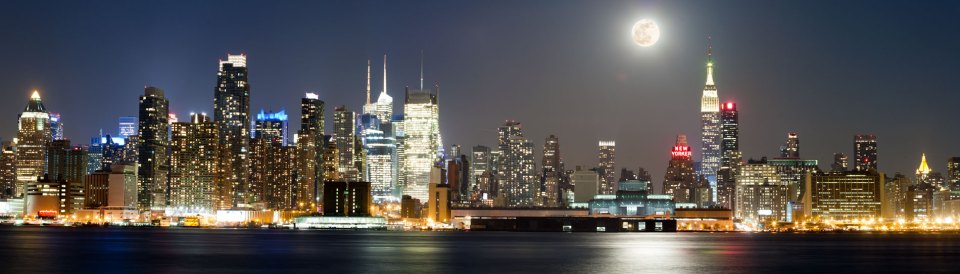 NYC-Skyline-with-Full-Moon