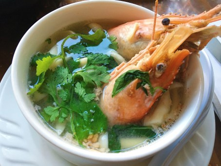 Tom Yum Soup - Spicy Lemongrass Soup w/ Jumbo Shrimp