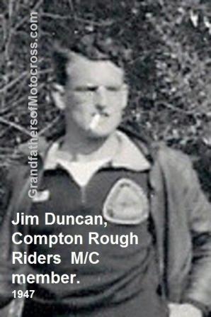 1947 Jim Duncan, a member of the Compton Rough Riders MC