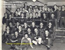 1948 b5 HillToppers mc Club, Del Kuhn not present,, working LBPD