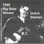 1948 1-4 a12 Del Big Bear racing history rode HD 45, .