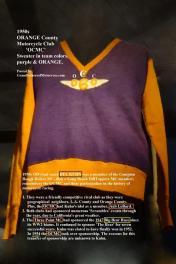 1954 OCMC sponsors SCRAMBLES & 1954 Big Bear history, 3 point MC 1947-1953 club sweater,