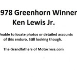 1978 Greenerhorn winner Ken Lewis Jr.