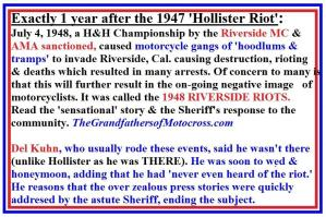 Riverside Riots, Hollister