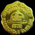 1949 10-9 a2 Cactus Derby pin, Del Kuhn did not ride that year