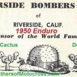 1950 9-17 a2  Riverside Cactus Derby sponsored by Riverside Bombers MC
