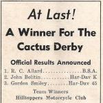 1952 a3 Cactus Derby winner, R.C. Allard