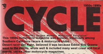 76- Cycle magazine editor & writer was Bob Greene