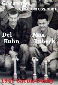 Bubeck, Max (AMA) 1947 8th in Cactus Derby & Del Kuhn 13th