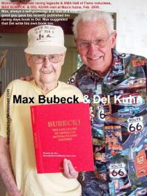 Bubeck, Max (AMA) 2009 Hall of Fame inductees & Del Kuhn