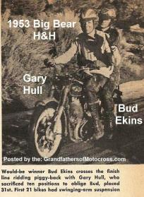 Ekins, Bud (AMA) & Hull, Gary both NLAMC 1953 Big Bear