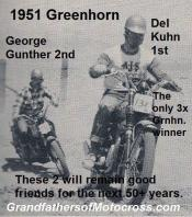 Gunther, George a2 1951 Greenhorn 2nd & friend Del Kuhn wins Grnhorn 3rd time