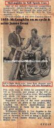McLaughlin, John a3 (AMA) 1955 & actor James Dean, sold MC