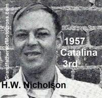 Nicholson, H.W. 1957 Catalina 3rd place
