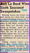 1947 4-20 a2 6th SEACOAST SWEEPSTAKES race, LeBARD won, KUHN 3rd on HD (2)