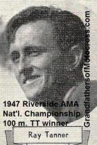 1947 9-1a14 Ray Tanner wins National Championship 100 m. TT in Riverside