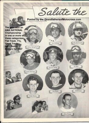 1947 The Champs of 1947 a1, Spiegelhoff, L. Anthony, Quattrocchi, Rettinger, Dahlke, Rusk, Fletcher, Burke, Ricker, Kroeger