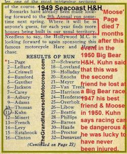 1949 6-0g Seacoast Results, Page dies 7 mo. later, BIG BEAR takes 2 OF KUHN's pals