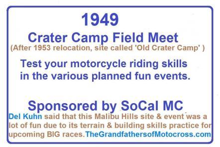 Crater Camp, SoCal MC