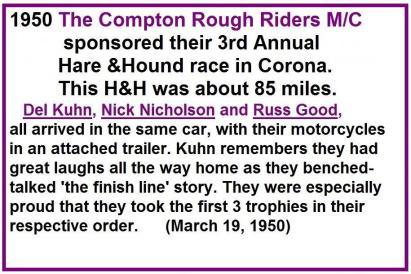 1950 3-19 a Compton Rough Riders MC H&H, Kuhn wins