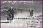 1950 3-19 b4 Finish line Corona Race Rough Riders, won, about 80 miles