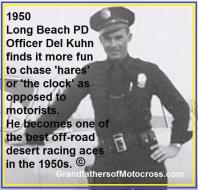 1950 3-19 c6 Del Kuhn unable to attend trophy awards as working LBPD