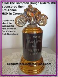 1950 3-19 c8 trophy Rough Riders MC 3rd annual 1st Del Kuhn