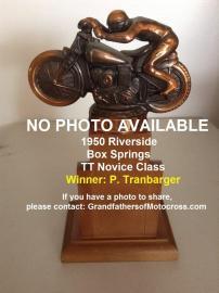 1950 4-2 a14 Box Springs TT, won NOVICE class, P. Tranbarger