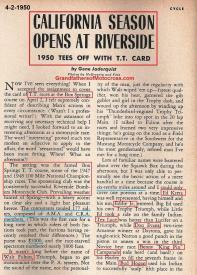 1950 4-2 a4a Box Springs TT, Norm Sothern, Kretz, Walt Fulton