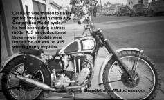 1950 5-7 a0 Del Kuhn gets his new AJS competition model